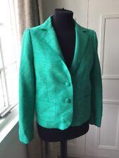 Green Silk Jigsaw Blazer Jacket
