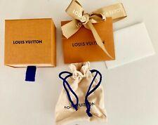 """LOUIS VUITTON SM GIFT BOX POUCH ENVELOPE CARD RIBBON 2.75"""" SQ 1.5"""" D FREE SHIP"""
