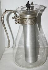 Vintage Ornate Silver Plate & Glass Jug with Ice holder - FREE P&P [PL1158B]