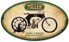Vintage Harry A Miller Motorcycle Metal Sign Barn Garage Shop Man Cave FRC057
