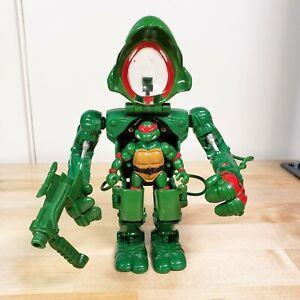 Playmates TMNT Muta Force RAPHAEL Mech Exoskeleton Mutaforce 1996 w/ gun weapon