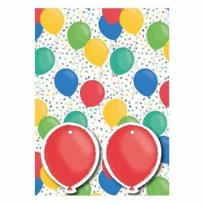Gift Wrap Pack 2 Sheets  2  Gift Tags  Balloons