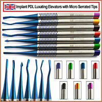 Dental PDL Luxating Elevators Tooth Loosening Implant Oral Surgery New Set Of 7