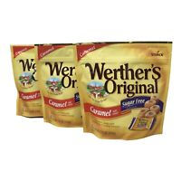 3-Pk Werther's Original Sugar Free CARAMEL Candies 7.7oz Resealable Bag