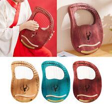 Lyre Harp 16 Metall Saiteninstrument Mahagoni Korpus mit Schraubenschlüssel
