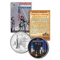 WORLD TRADE CENTER 17th Anniversary New York Statehood Quarter Coin 9/11 WTC