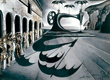 Salvador Dali Sewing machine with umbrella giclee 8.3X11.7 canvas print poster