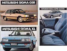 Three 1984 MITSUBISHI GK SIGMA Australian Brochures - GSR SUPER XL Like GALANT