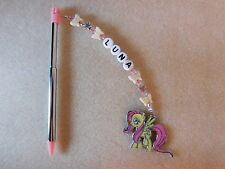 Personalised 3DS / 2DS  Stylus / Pen / with charm My Little Pony Fluttershy Pink