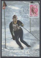 FRANCE FDC - 1547 5 JO SKI SLALOM - GRENOBLE 6 Février 1968 - LUXE