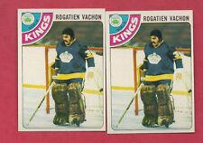 1978-79 TOPPS # 20 LA KINGS ROGATIEN VACHON   CARD LOT