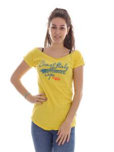 Brunotti T-Shirt Summer Top Printshirt Yellow Babien Crew Neck Casual