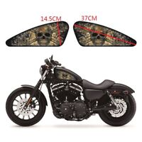 2 X Smoke Skeleton Fuel Tank Decals Emblem Badges Papers Set Only For Harley