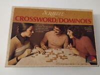 Vintage Scrabble Crossword Dominoes Complete Word Family Game Original Box 1975