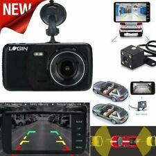 G-Sensor Dual Lens Camera Front Rear Video Recorder Car DVR Dash HD 1080p Black