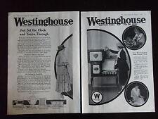 1918 Westinghouse Electric Appliances Range Iron Toasters Advertisement