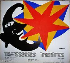 Calder Plakat Lithographie Original Signiert Sonne Stern Mond Museum Sammler
