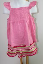 Gymboree Ice Cream Sweetie Pink Top Shirt Knit Shorts Girls Size 5T NWT