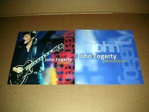 JOHN FOGERTY Premonition 2 Sided Promo 12x12 Poster Promo Flat 1998 Mint-