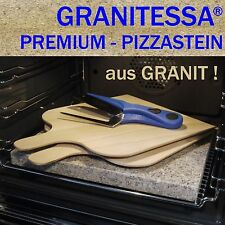 GRANITESSA PIZZASTEIN - aus GRANIT ! - mit 2 PIZZASCHAUFELN & PIZZASCHERE