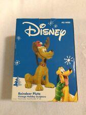 "Disney REINDEER PLUTO Vintage Holiday Sculpture 9"" Hand Made-Hand Painted"