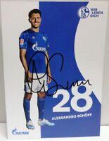 Alessandro Schöpf + Autogrammkarte 2019/2020 + FC Schalke 04 + AK2019123 +