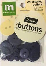 "NAVY BLUE CIRCLE ULTRA-THIN BUTTONS(24pc)Making Memories•Asst. Sizes 3/8-7/8""•••"