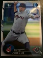 2016 First Bowman Draft Chrome Shane Bieber #BDC-68 Cleveland Indians Prospect