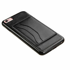 Plain Card Pocket Fitted Cases for Apple Phones