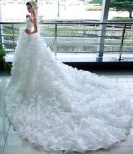 New white/ivory Ball Gown wedding dress custom size 2-4-6-8-10-12-14-16-18-20
