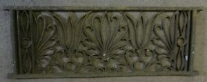 Antique Decorative Fancy Cast Iron Grate Foliate, Tulip Design Ca.1890's