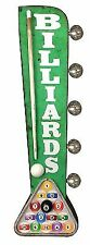 Billiards Sign, Illuminated By Battery Powered Large LED Lights, Double Sided To