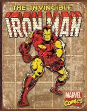 Iron Man Novelty TIN SIGN Vintage Marvel Comics Wall Poster Decor