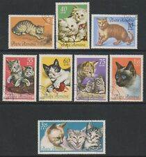 Cats Romanian Stamps