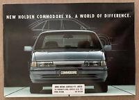 1992 Holden Commodore original Australian sales brochure (6/92 sticker)