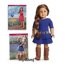 American Girl Saige Doll 2013 + Book + 2nd Book ring earrings Same Day Ship sage