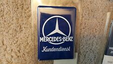 Mercedes Enamel Plate Kundendienst Replica Benz Sign Classic Collections