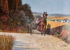 John Falter, Horse and Buggy Days, Vintage U. S. Poster from Some Years Ago.
