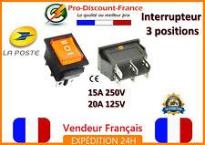 1 interrupteur avec voyant à bascule 15A 250V - 20A 125V 3 positions orange