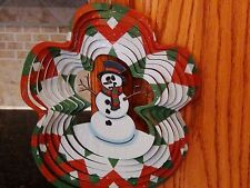 Snowman Wind Spinner Outdoor Indoor  Decor Free Shipping Made in USA