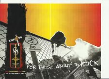 "sobe adrenaline rush ""for those about to rock"" - 2002 print magazine ad."