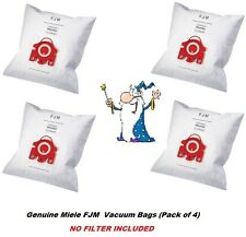 Genuine MIELE FJM HyClean 3D Vacuum Cleaner DUST BAG x 4 NO FILTER INCLUDED