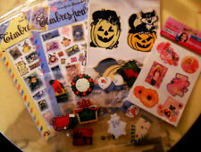 Witch Transfers Fake Stamps, Halloween Window Decors, Barbie Tattoos & Xmas Tags