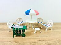 Sylvanian Families Vintage Patio Furniture & Barbecue BBQ 1988 Set TOMY