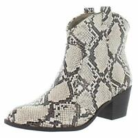 Style & Co. Womens Mykenna Faux Leather Cowgirl Cowboy,, White Snake, Size 6.5 n