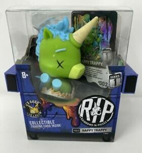 R.I.P. Rainbows in Pieces Happy Trappy Figure! 002 MGA toy! Trading Card