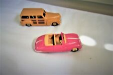 Vintage Diecast DINKY TOYS Plymouth Woody Station Wagon & *Pink Austin Atlantic
