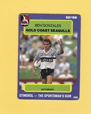 1990 Stimorol Rugby League Trading Card #62 Ben Gonzales Gold Coast Seagulls