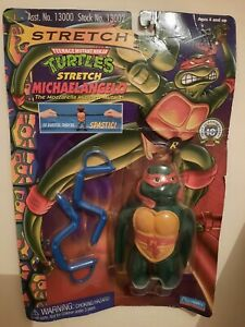 TMNT STRETCH MICHAELANGELO NEW NEUF PLAYMATES Toys 1996