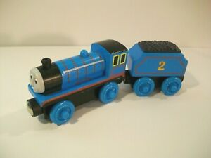 THOMAS THE TRAIN WOODEN RAILWAY EDWARD & EDWARD'S TENDER WOOD TRAIN CARS